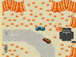 In game image of Mad Max on the Nintendo NES.
