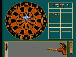 In game image of Magic Darts on the Nintendo NES.