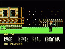 In game image of Maniac Mansion on the Nintendo NES.