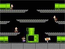 In game image of Mario's Time Machine on the Nintendo NES.