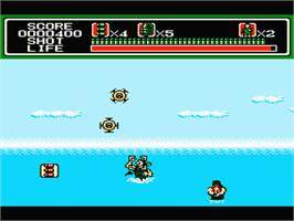 In game image of Mechanized Attack on the Nintendo NES.
