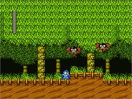 In game image of Mega Man 2 on the Nintendo NES.