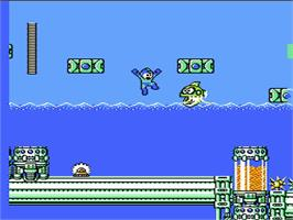 In game image of Mega Man 4 on the Nintendo NES.