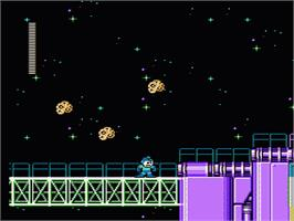 In game image of Mega Man 5 on the Nintendo NES.