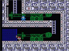 In game image of Mega Man III on the Nintendo NES.