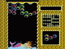 In game image of Mermaids of Atlantis: A Riddle of a Magic Bubble on the Nintendo NES.