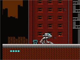 In game image of MetalMech: Man & Machine on the Nintendo NES.