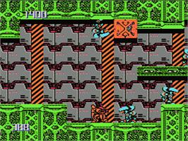 In game image of Metal Storm on the Nintendo NES.