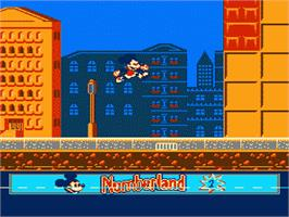 In game image of Mickey's Adventures in Numberland on the Nintendo NES.