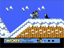 In game image of Mickey's Safari In Letterland on the Nintendo NES.