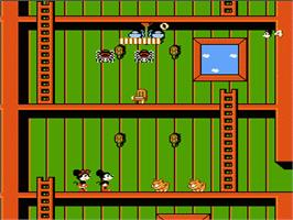 In game image of Mickey Mousecapade on the Nintendo NES.