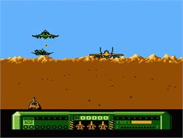 In game image of Mig-29 Soviet Fighter on the Nintendo NES.