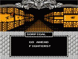 In game image of Might and Magic: Secret of the Inner Sanctum on the Nintendo NES.