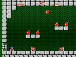 In game image of Mighty Bombjack on the Nintendo NES.