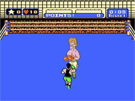 In game image of Mike Tyson's Punch-Out!! on the Nintendo NES.