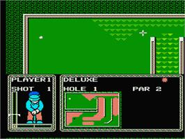 In game image of Mini-Putt on the Nintendo NES.