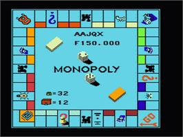 In game image of Monopoly on the Nintendo NES.