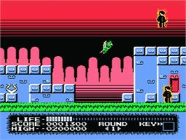 In game image of Monster Party on the Nintendo NES.