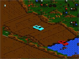 In game image of Monster Truck Rally on the Nintendo NES.