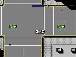 In game image of Motor City Patrol on the Nintendo NES.