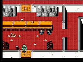 In game image of New Ghostbusters 2 on the Nintendo NES.