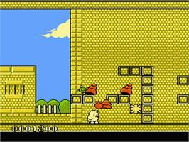 In game image of New Zealand Story on the Nintendo NES.