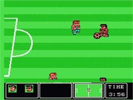 In game image of Nintendo World Cup on the Nintendo NES.
