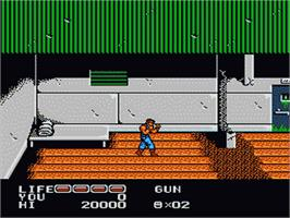 In game image of P.O.W. - Prisoners of War on the Nintendo NES.