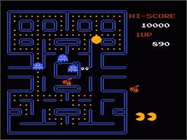 In game image of Pac-Man on the Nintendo NES.