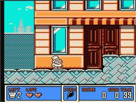 In game image of Panic Restaurant on the Nintendo NES.