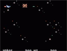 In game image of Parodius on the Nintendo NES.