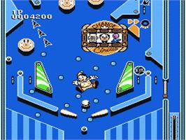 In game image of Pinball Quest on the Nintendo NES.