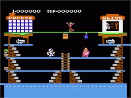 In game image of Popeye on the Nintendo NES.