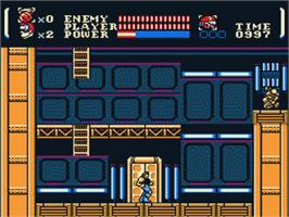In game image of Power Blade on the Nintendo NES.