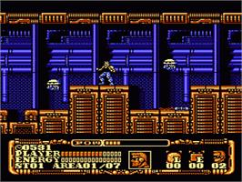 In game image of Power Blade 2 on the Nintendo NES.