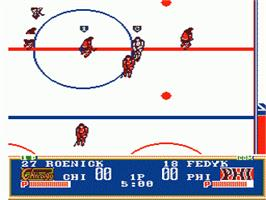 In game image of Pro Sport Hockey on the Nintendo NES.