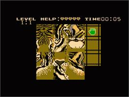 In game image of Puzzle on the Nintendo NES.