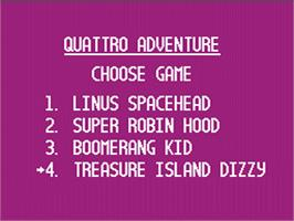 In game image of Quattro Adventure on the Nintendo NES.