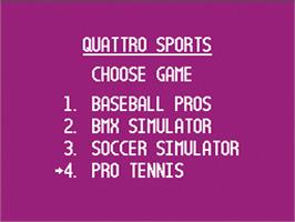 In game image of Quattro Sports on the Nintendo NES.