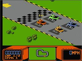 In game image of R.C. Pro-Am on the Nintendo NES.
