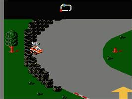 In game image of R.C. Pro-Am 2 on the Nintendo NES.