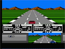 In game image of Race America on the Nintendo NES.