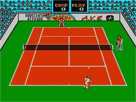 In game image of Rad Racket: Deluxe Tennis 2 on the Nintendo NES.