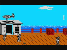 In game image of Raid 2020 on the Nintendo NES.