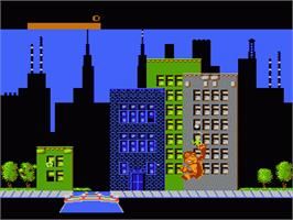 In game image of Rampage on the Nintendo NES.