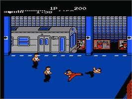 In game image of Renegade on the Nintendo NES.