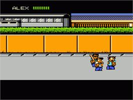 In game image of River City Ransom on the Nintendo NES.