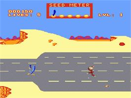 In game image of Road Runner on the Nintendo NES.