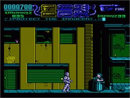 In game image of Robocop 3 on the Nintendo NES.