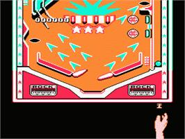 In game image of Rock 'n Ball on the Nintendo NES.